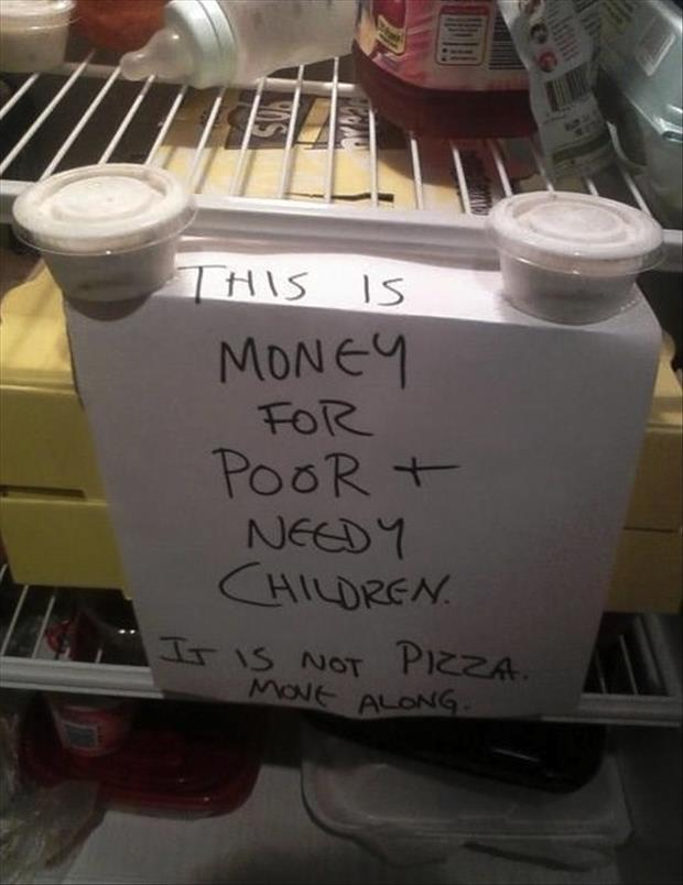 funny signs in the refrigerator