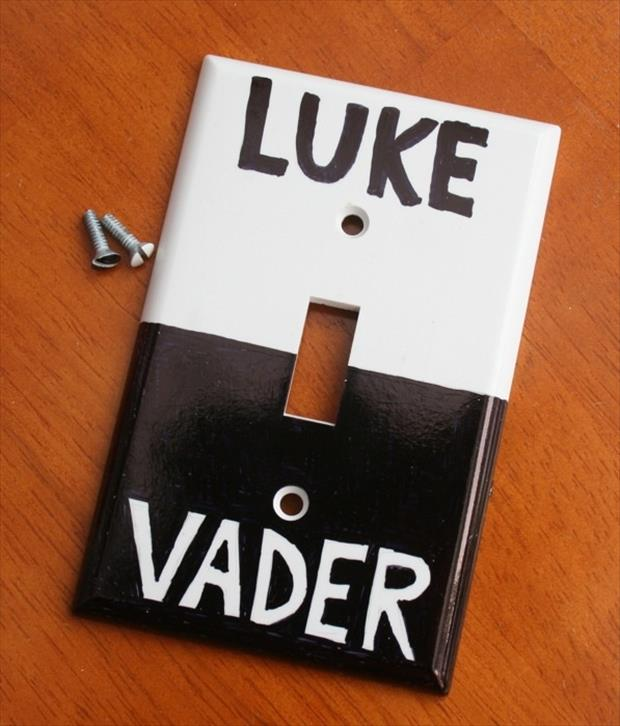 funny star wars light switch