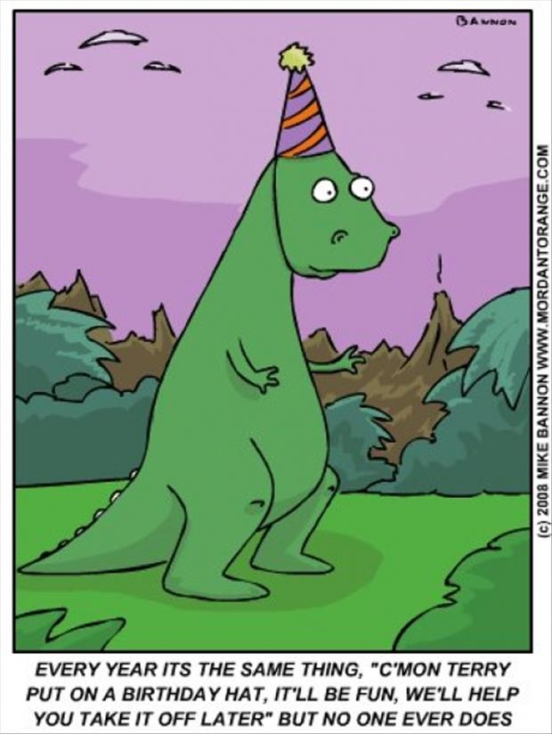 funny  t-rex Birthday hat