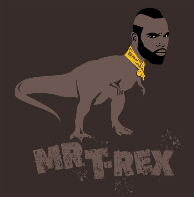 funny  t rex pictures Mr T-rex