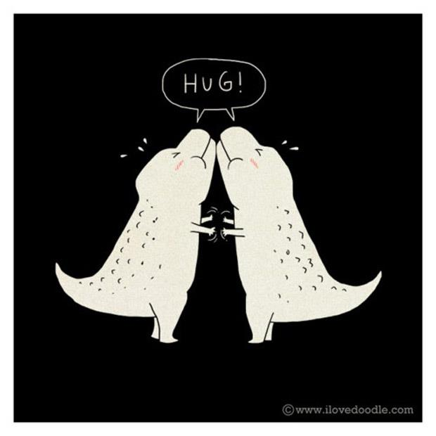 funny t-rex pictures hug