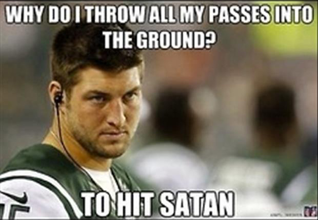 funny tim tebow