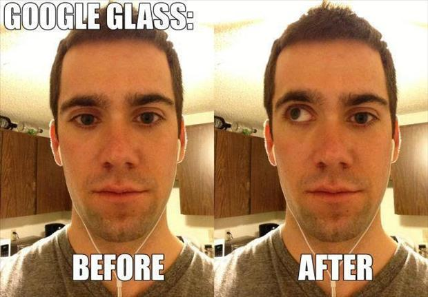 google glass before and after