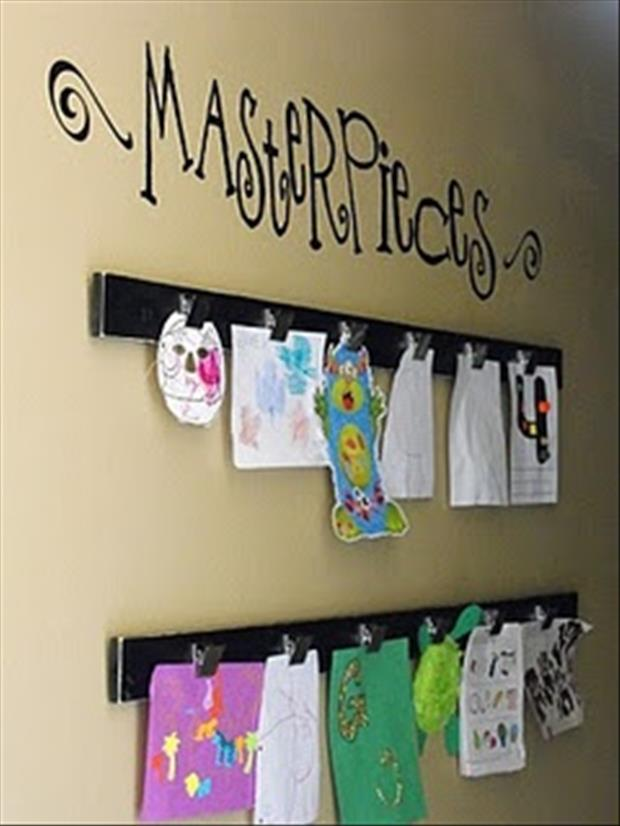 hang up your kids artwork craft ideas