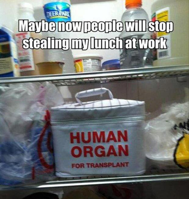 how to keep people from stealing your lunch