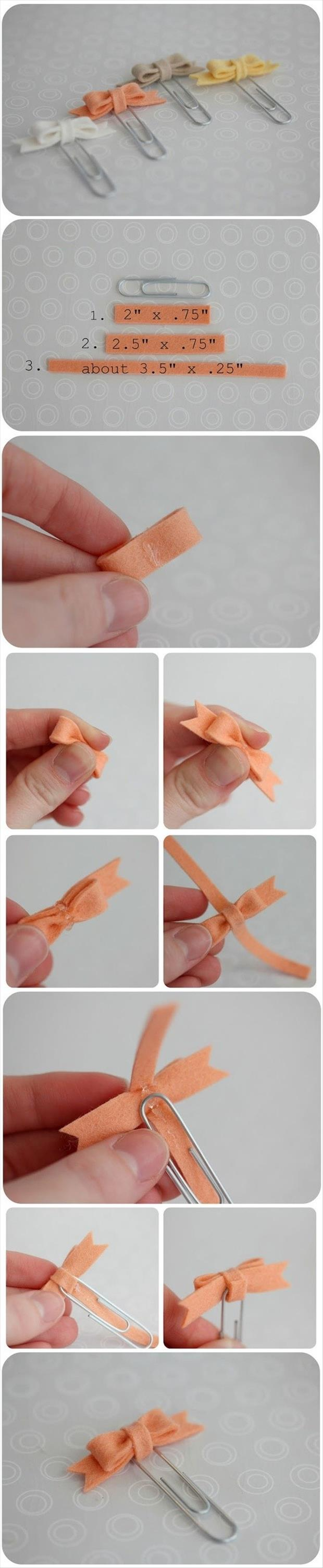 how to make bow tie paperclips