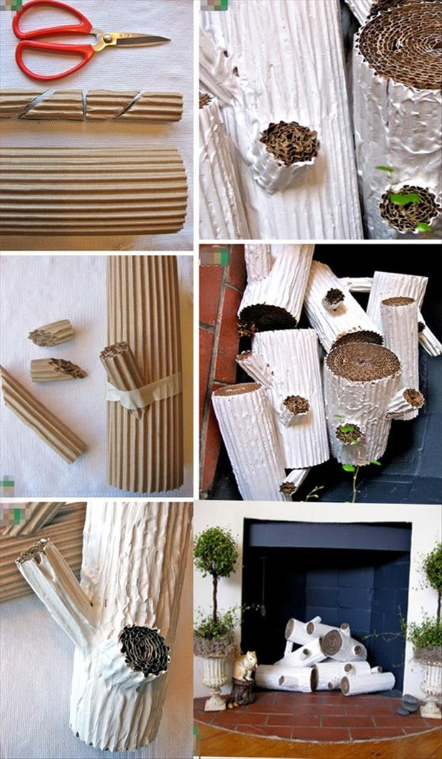 now fireplace facade faux challenge for stacked pepper fake finished logs fireplacelogscreen log horizontalcloseup stack pinterestchallenge pinterest