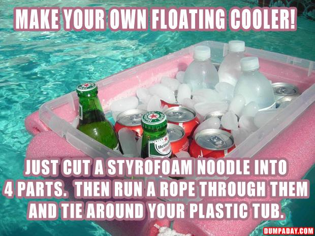 how to make your own floating cooler
