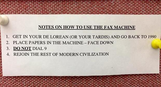 how to use a fax