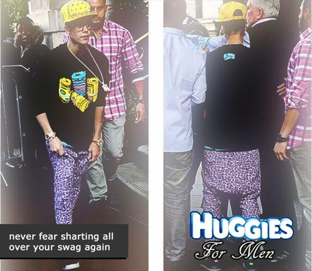 huggies for me funny justin bieber pictures