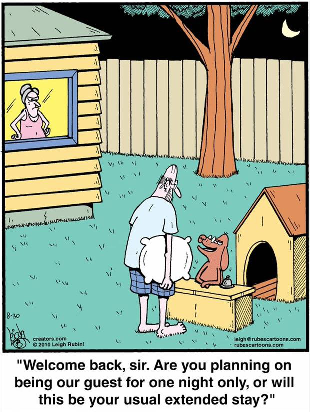husband in the dog house