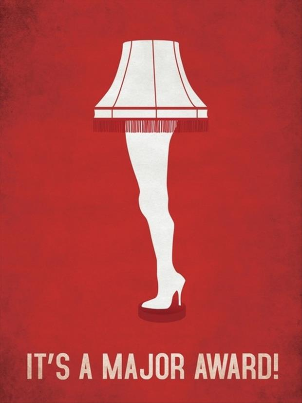 its a major award one leg lamp funny images