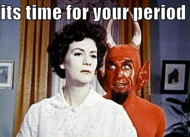 its time for your period devil and women
