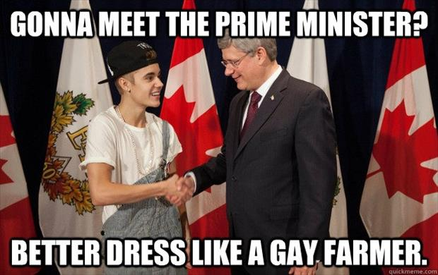 justin bieber meets the prime minister
