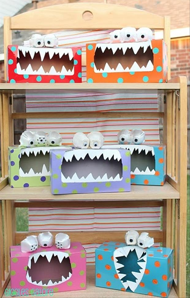 kleenex box monsters fun craft ideas