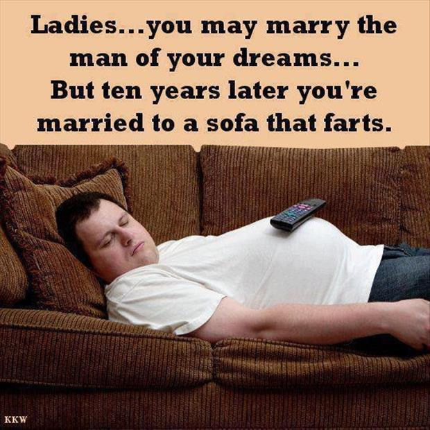 ladies marry the man of their dreams funny fart jokes