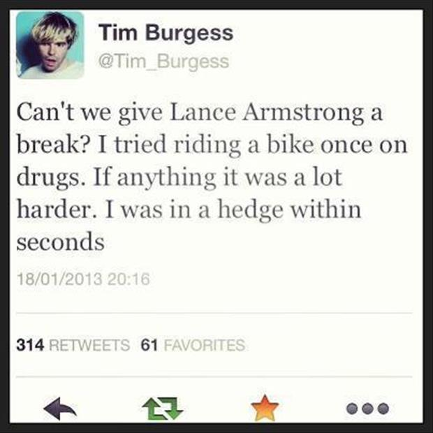lance armstrong twitter quotes