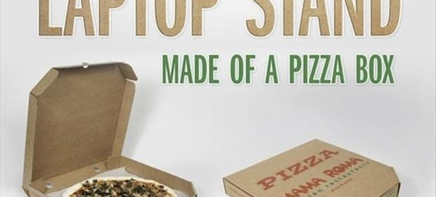 lap top stand made from a pizza box THUMB