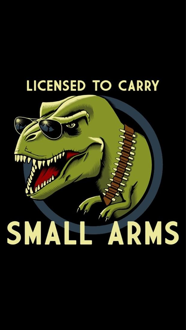 licensed to carry small arms funny pictures