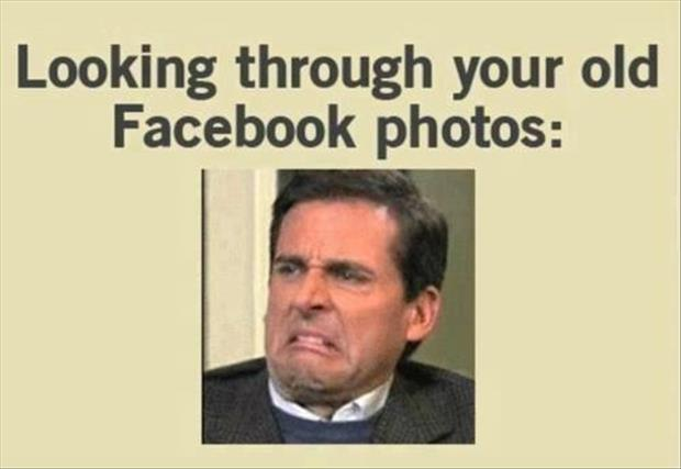 looking through your old facebook photos