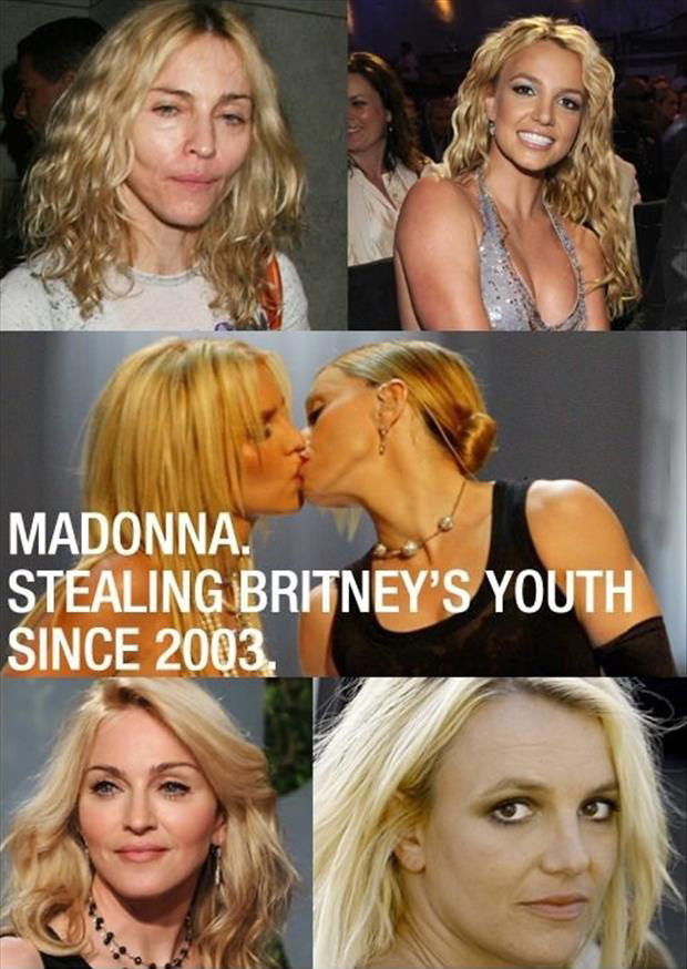 madonna stealing britney spears youth