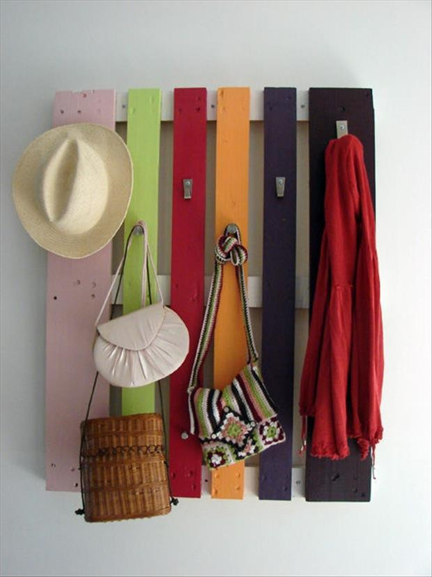 make a coat rack from old pallets