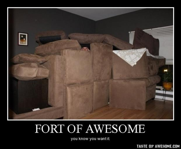 make a fort out of couch cushions demotivational posters