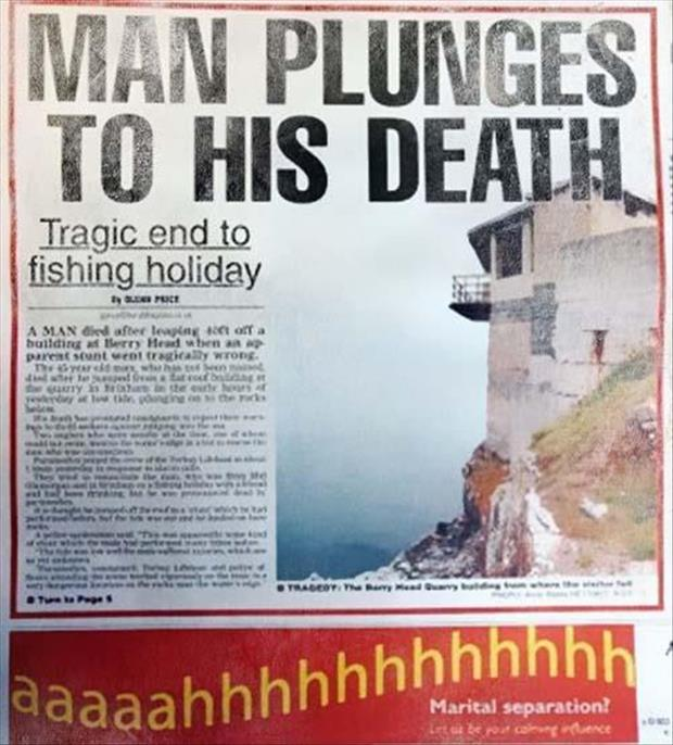man plunges to his death