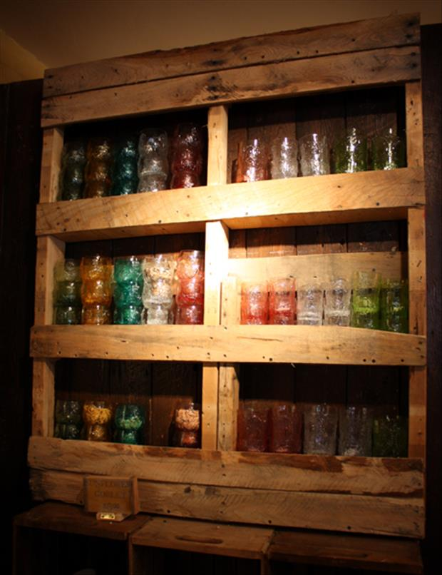 many uses for old pallets glass holder