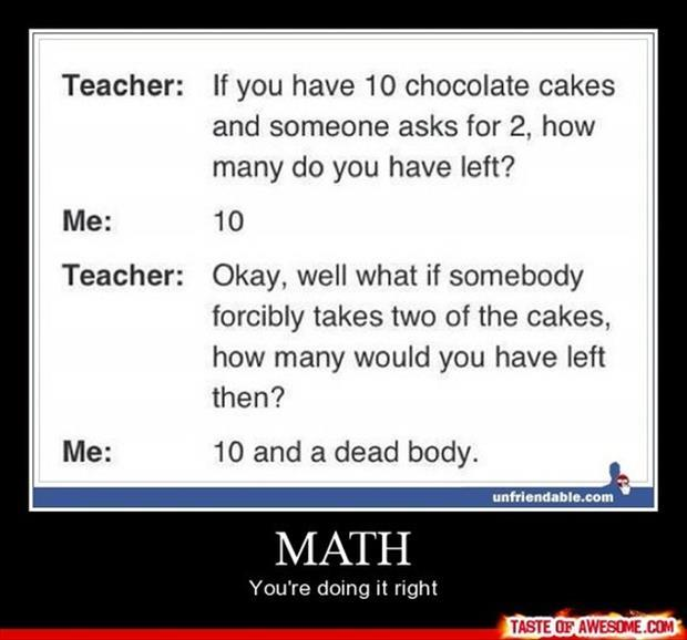 math demotivational posters