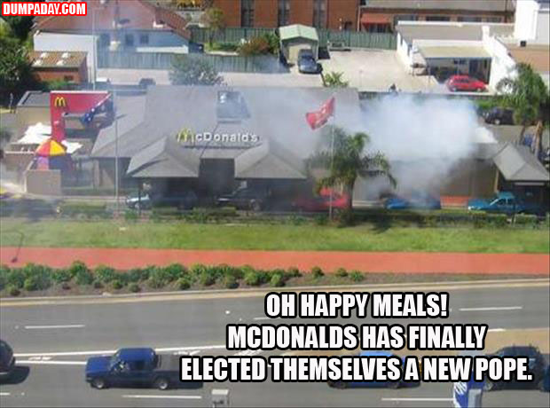 mcdonalds elected themselves a new pope
