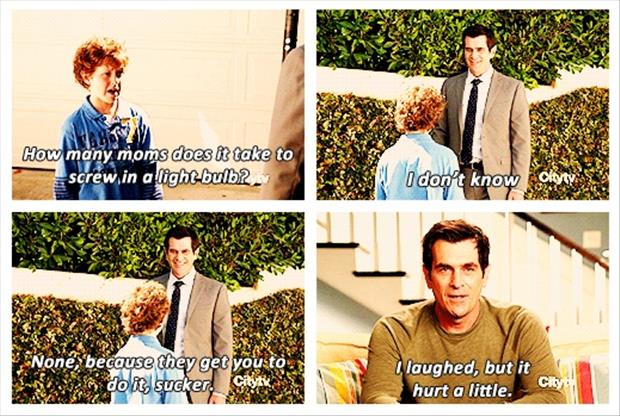 mom jokes modern family