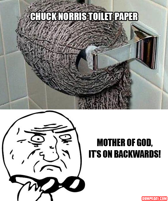 mother of god funny toilet paper is on backwards