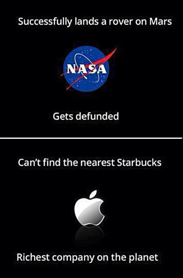 nasa vs apple computers