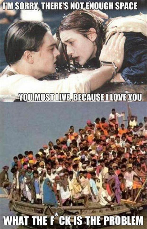 not enough room on the door titanic funny pictures