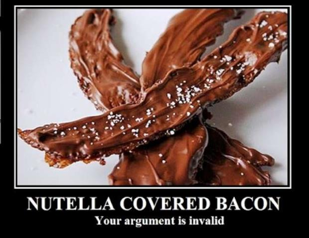 nutella covered bacon