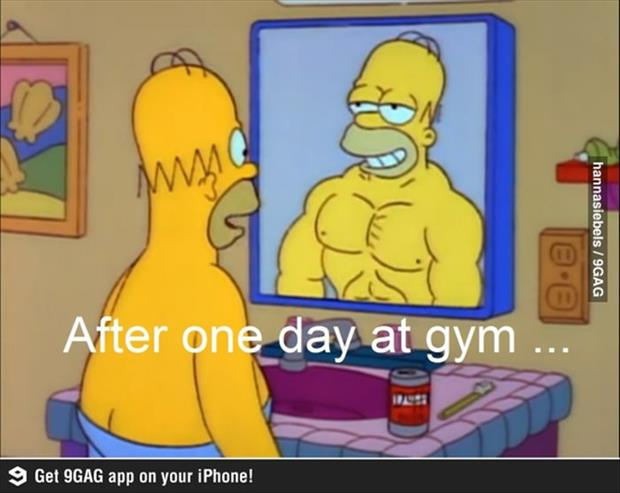 one day at the gym