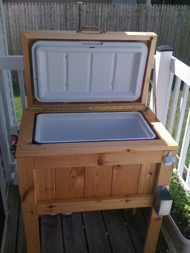 outdoor cooler for the summer deck ideas