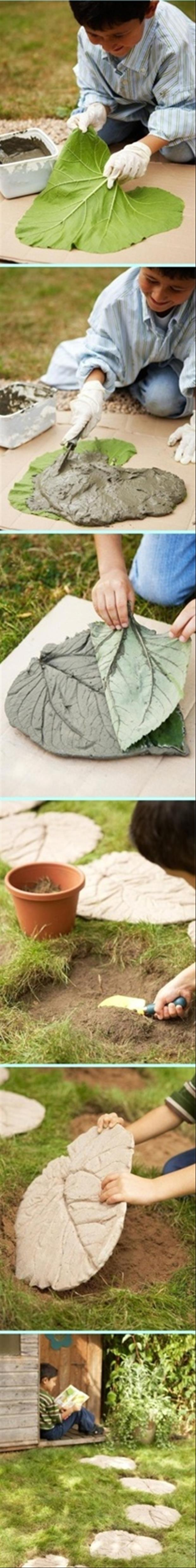 outdoor craft ideas, walking path