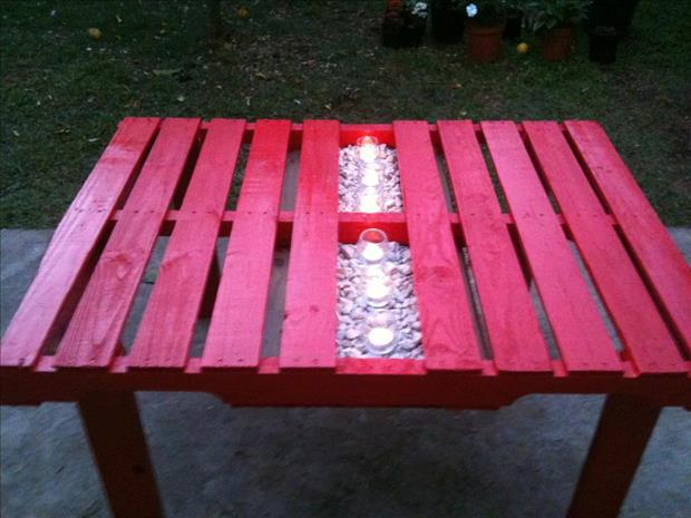 outdoor table pallet ideas