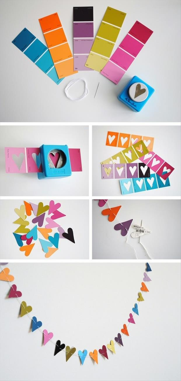 paint sample paper crafts