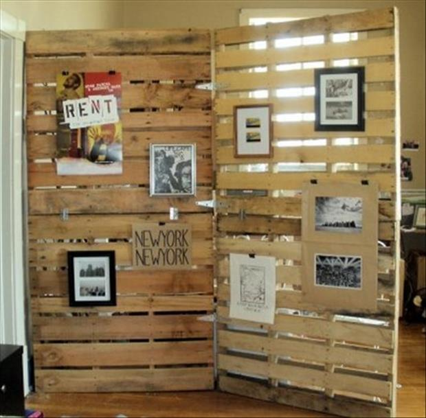 pallet wall made from old pallets