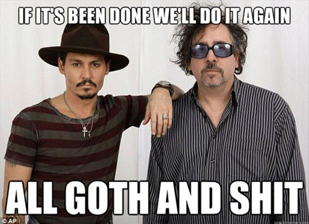 philosophy of Johnny Depp and Tim Burton
