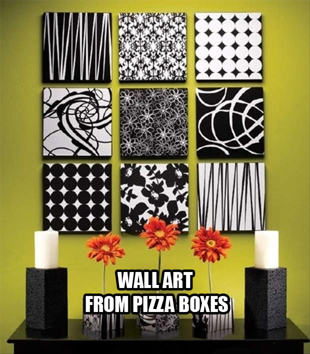 pizza box wal art