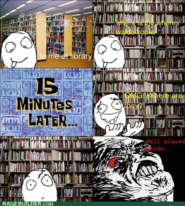 rage comics where are the waldo books