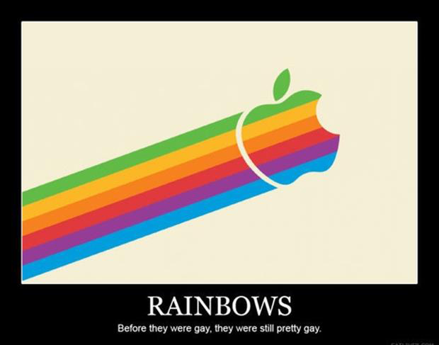 rainbows funny demotivational posters