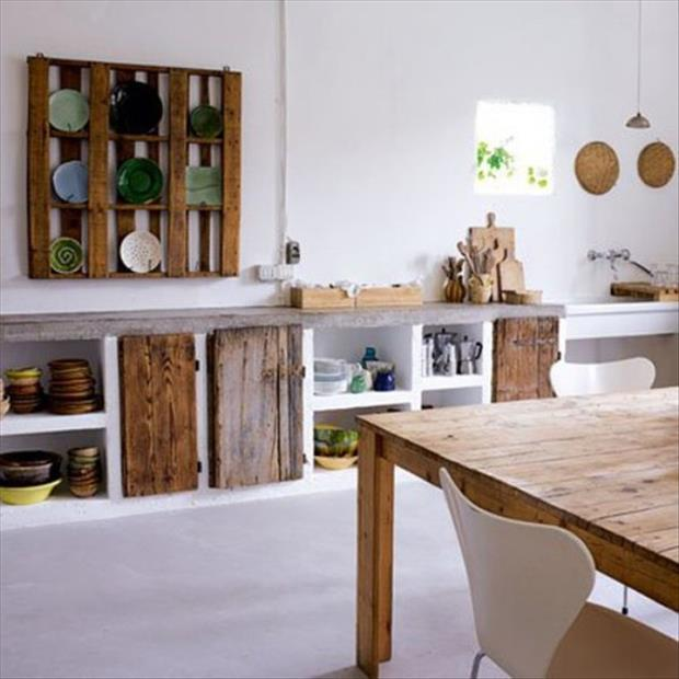 reuse old pallet ideas for the kitchen