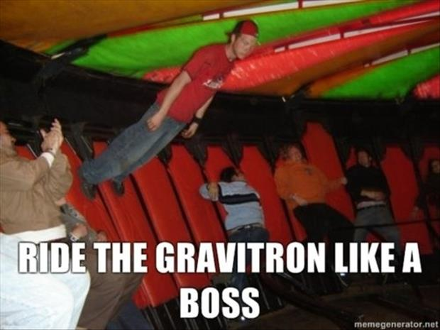 ride the gravitron like a boss