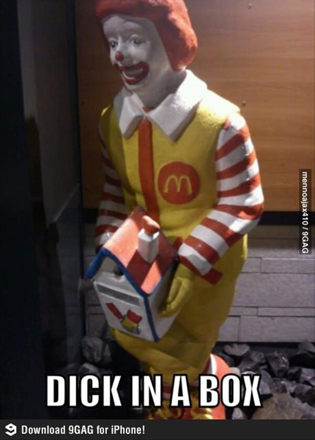 ronald mcdonald dick in a box