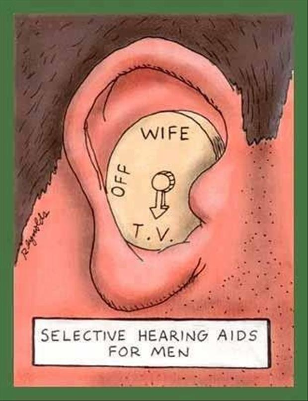 selective hearing, funny pictures